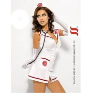 Emergency dress obsessive blanc infirmieres
