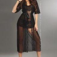 Fuksja dressing gown peignoir livco corsetti livco large nuisettes noir