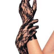 Gants courts dentelle leg avenue noir gants et mitaines