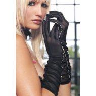 Gants maille strass leg avenue noir gants et mitaines