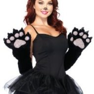 Gants pattes de chat leg avenue leg avenue taille unique gants et mitaines noir