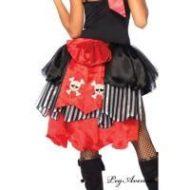 Gros noeud type traine pirate leg avenue leg avenue taille unique jupons noir rouge