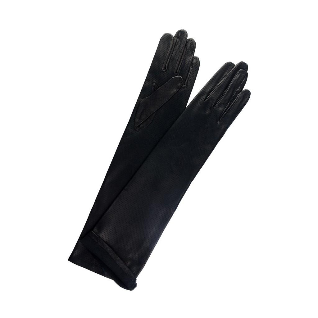 guantes negros largos