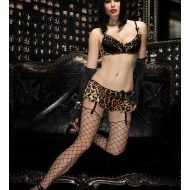 Guepiere pin up leg avenue large burlesque noir mauve