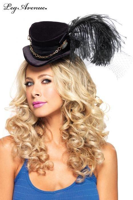 haut de forme traditionnel leg avenue noir chapeaux