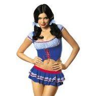Heidi costume obsessive bleu ecoliere lolita