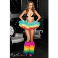 Jambieres arc en ciel leg avenue multicolore club wear