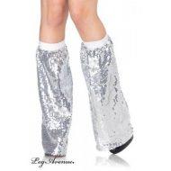 Jambieres sequins leg avenue argent club wear
