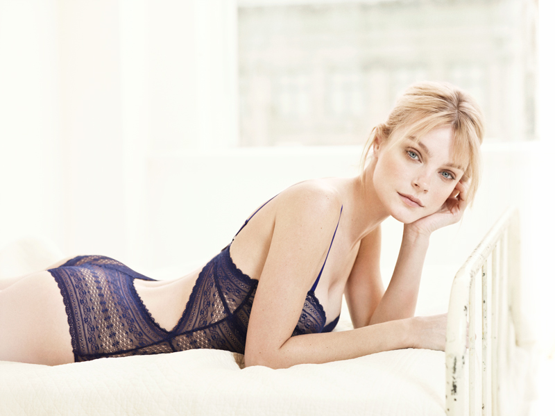 Jessica Stam lingerie