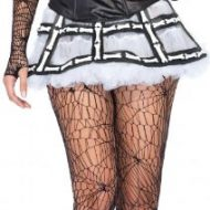 Jupe ossement en latex leg avenue leg avenue taille unique i halloween blanc