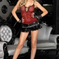 Jupette vinyle zip leg avenue noir club wear