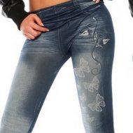 Legging effet jean et papillons