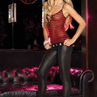 Legging effet mouille leg avenue noir club wear