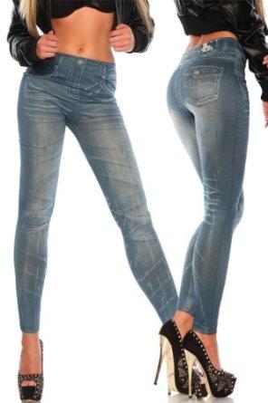 legging facon jean effet plis