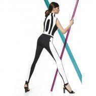 Legging haute qualite noir et blanc 200 deniers