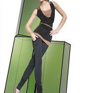 Legging noir souple avec poches sur les cuisses 200 deniers