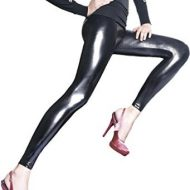 Legging noir style vinyle 120 deniers