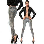 Legging sexy jean et leopard