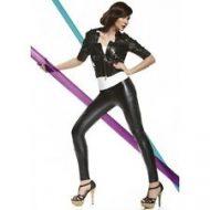 Legging style cuir avec rayures 200 deniers