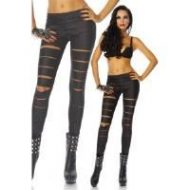 Legging wetlook larges fentes