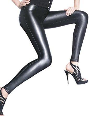 leggings style cuir 200 deniers