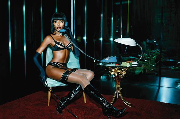 lingerie 2015 Naomi Campbell