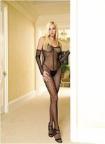 lingerie combinaison imprimee gants gt noir leg avenue plus size
