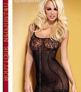 Lingerie d202 robe noir obsessive sm