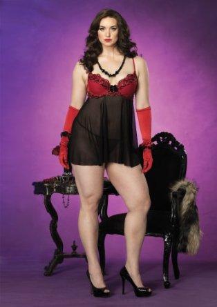 lingerie nuisette voile 2 pieces gt noir leg avenue 1x 2x