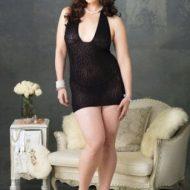 Lingerie robe lingerie micro resille leopard gt noir leg avenue plus size