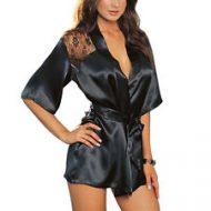 Lingerie sati robe noir passion sm