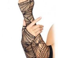 Longues mitaines resille asymetrique leg avenue noir gants et mitaines