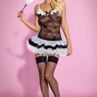 Maid costume obsessive noir costumes lingerie