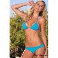 Maillot de bain bikini 2 pieces spandex leg avenue noir bikini