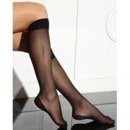 Mi bas resille leg avenue noir blanc mi bas chaussettes sexy