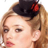 Mini haut de forme fleur leg avenue noir chapeaux