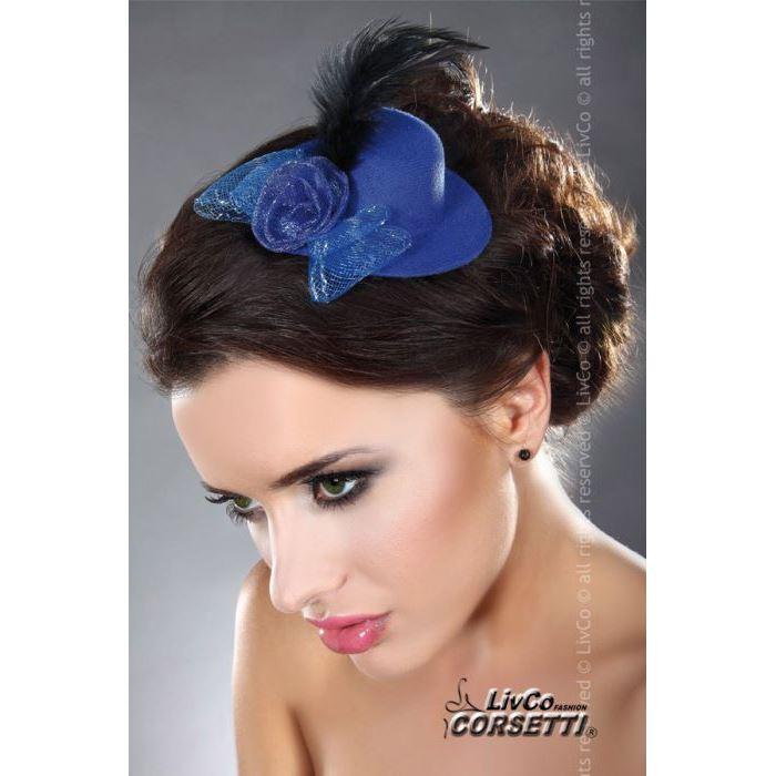 mini top hat modele 11 livco bleu chapeaux