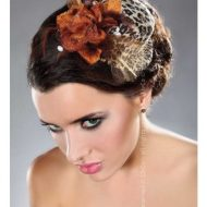 Mini top hat modele 25 livco leopard chapeaux