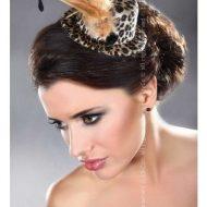 Mini top hat modele 28 livco leopard chapeaux