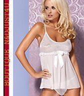 Mistia chemise obsessive blanc nuisettes