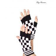 Mitaines a damier leg avenue noir mauve gants et mitaines