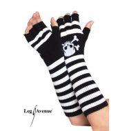 Mitaines courtes en resille leg avenue noir gants et mitaines