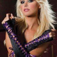 Mitaines de luxe longues satin a lacets