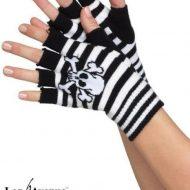 Mitaines squelette leg avenue noir blanc gants et mitaines