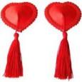 Nipple coeur avec pompons tassel
