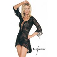 Nuisette flamenco mon amour leg avenue noir robes lingerie courtes