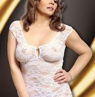Nuisette sexy grande taille linley blanc