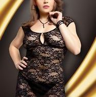 Nuisette sexy grande taille linley noir