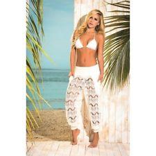 pantalon brode de plage avec poches
