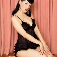 Panty noeud voile leg avenue large burlesque noir